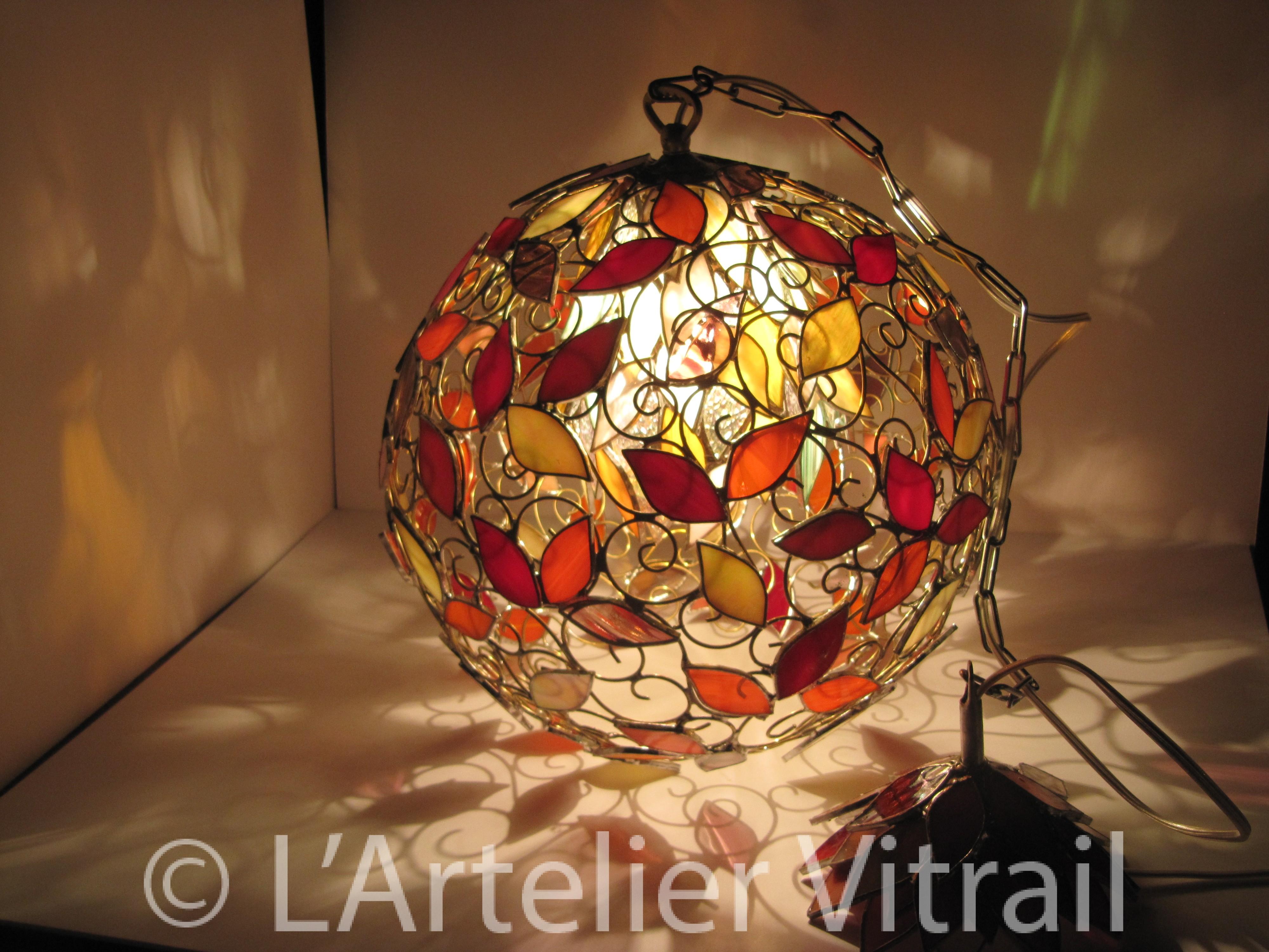 D coration l 39 art elier vitraill 39 art elier vitrail for Vitrail decoration
