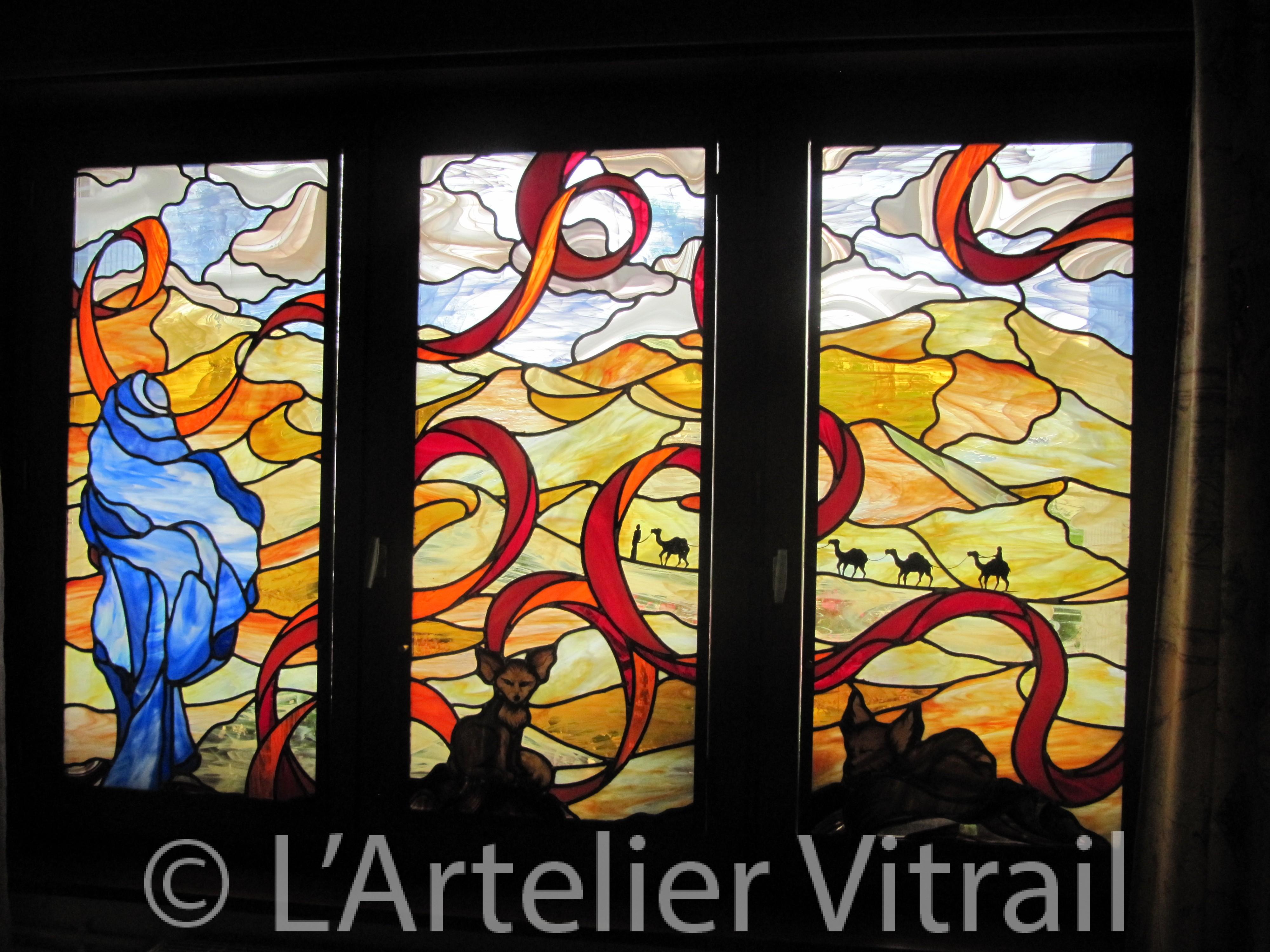 Maitre verrier lyon vitrail sur mesure traditionnel ou tiffany