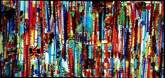 tableaux lumineux grand format artiste verrier